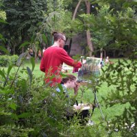 На этюдах в Таврическом саду :: Елена Гуляева (mashagulena)