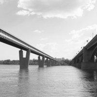 Мосты через Обь-стремление к схождению :: Рустам Илалов