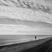 морской пейзаж или дама с собачкой :: Нина Хренова (Ninonnn)