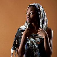 Тёмнокожая девушка в истёртом дырявом шарфике, думающая о смене времён года. :: Дмитрий Багдасарьян