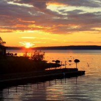 закат на Онежском озере :: Tasha