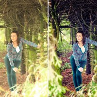 Анна в корнях - до и после :: Alex Lipchansky