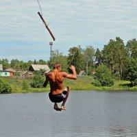 В полете,деревенский пруд :: Лидия (naum.lidiya)