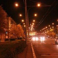 Ночной Новокузнецк :: фотоГРАФ Е.Буткеева .