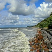 """Балтика """"съедает"""" пляж... :: Сергей Карачин"""
