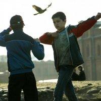 boys and pigeon :: Umi Neko
