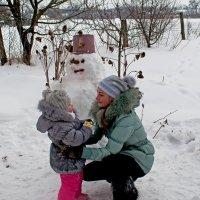 Лепим снеговика!!! :: Леший Дремучий