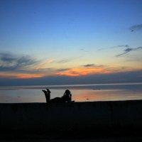 Море , девушка , закат . :: Мила Бовкун
