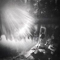 солнце. озеро. девушка :: Iraida Morozova