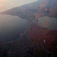 Полет, вид из иллюминатора, вид из самолета, Турция, Стамбул, Босфор, залив, море, панорама, вид, :: Olga