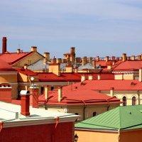 Цветные крыши Петропавловской крепости в Санкт - Петербурге :: Людмила Ермоленко