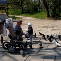 Покорми голубей, внучек :: Елена Даньшина