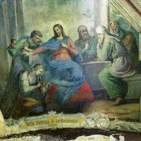 """Утраченная фреска в храме Благовещения """" Иисус Христос и грешница :: Николай Варламов"""