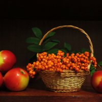 Натюрморт с яблоками! :: Ирина Олехнович