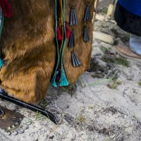 Железные ноги в обрядовом костюме  шамана :: Людмила Синицына