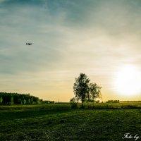 Закат и самолет :: Сергей Юдин