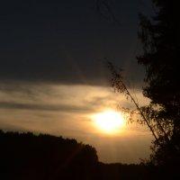 закат на речке :: Светлана