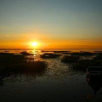 Закат на Плещеевом озере . :: Александр Теленков