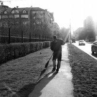 Утренний танец с метлой :: Елена Волжанкина