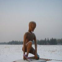 Памятник инопланетянину в Молебке :: Сергей Комков
