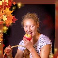 Осенние яблоки :: Галина Данильчева