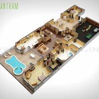 Современные 3D План Design Studio :: Yantram студия