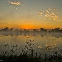 Восход на реке Дубна. :: Виктор Евстратов