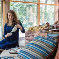 В чайном домике :: Диана Матисоне