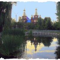 Блестит куполами Храм святой с колоколами.( Строительство Храма) :: Валентина ツ ღ✿ღ