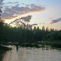 Река, поздний вечер :: val-isaew2010 Валерий Исаев