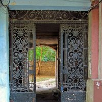старый двор, старинная решетка :: Александр Корчемный