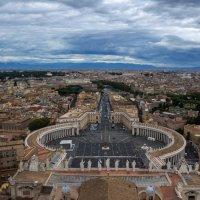 Рим с купола собора св. Петра в Ватикане :: Александр Корниенко