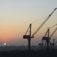 Рассвет в порту Ливорно :: Ульяна Жукова