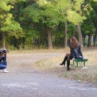 Портрет в парке :: Александр Скамо