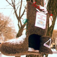 Кормушка для птиц на Чистых Прудах :: Наталия Белогур