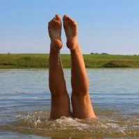 как то на озере девки купались.. :: Вероника Егорова