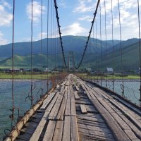 Мост через реку Катунь. :: Ирина Нафаня