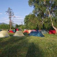 Утро в лагере. :: Ирина Нафаня