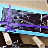 Шоколадка с цветочками фиалки.:) :: Валерия Комова