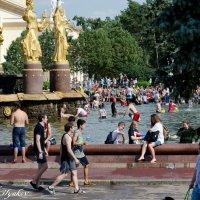 Купание в фонтане :: Александр Киляков