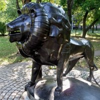 Лев как лев, но...металлический...))) :: Milocs Морозова Людмила
