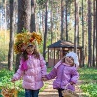 Маленькие грибники :: Аня Ушакова