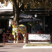 Уличная кафэшка с лошадью :: Александр Скамо