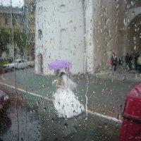 Свадьба под дождем. Владимир. У Золотых ворот :: demyanikita