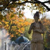 скульптура в осеннем парке :: Vasiliy V. Rechevskiy