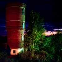 Закат и водонапорная башня. :: Андрий Майковский