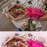 в постели с розами (до и после) :: Veronika G