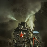Old Soviet steam locomotive. :: Дмитрий Лаудин