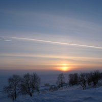 берег Обского моря,закат :: Валентина Хазова