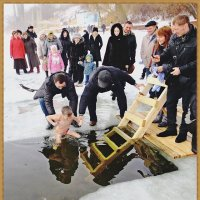 Самый смелый...19 января... :: юрий сухинин